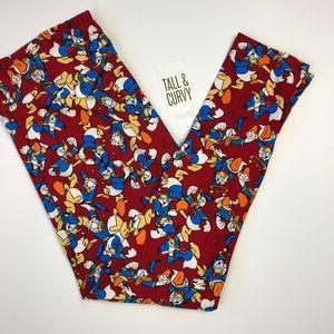 LuLaRoe TC Disney Donald Duck Leggings NWT